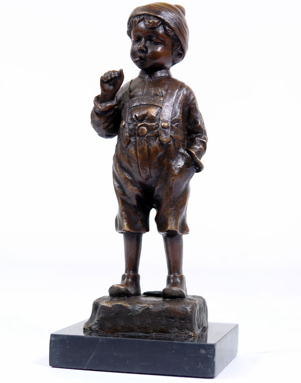statue en bronze 22cm sculpture enfant fumeur revolution industrielle figurine ebay. Black Bedroom Furniture Sets. Home Design Ideas