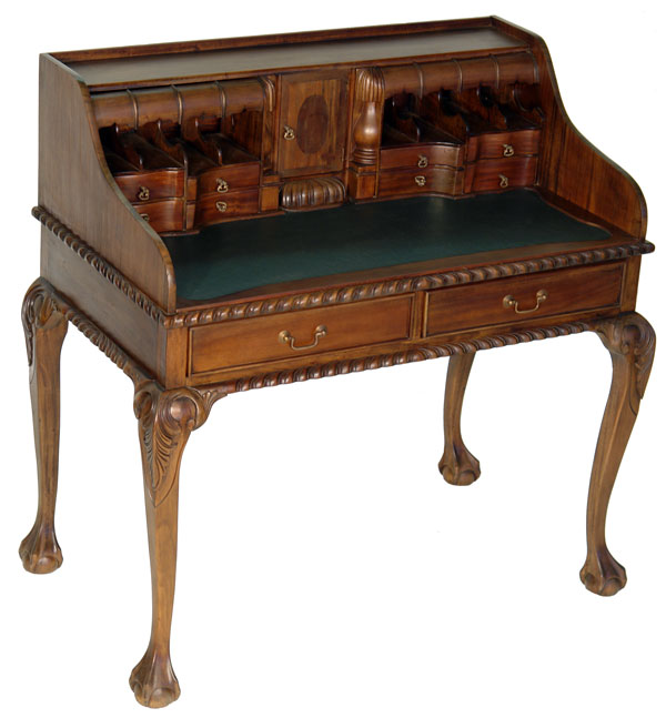 secretaire bureau anglais style chippendale victorien meuble en acajou table ebay. Black Bedroom Furniture Sets. Home Design Ideas