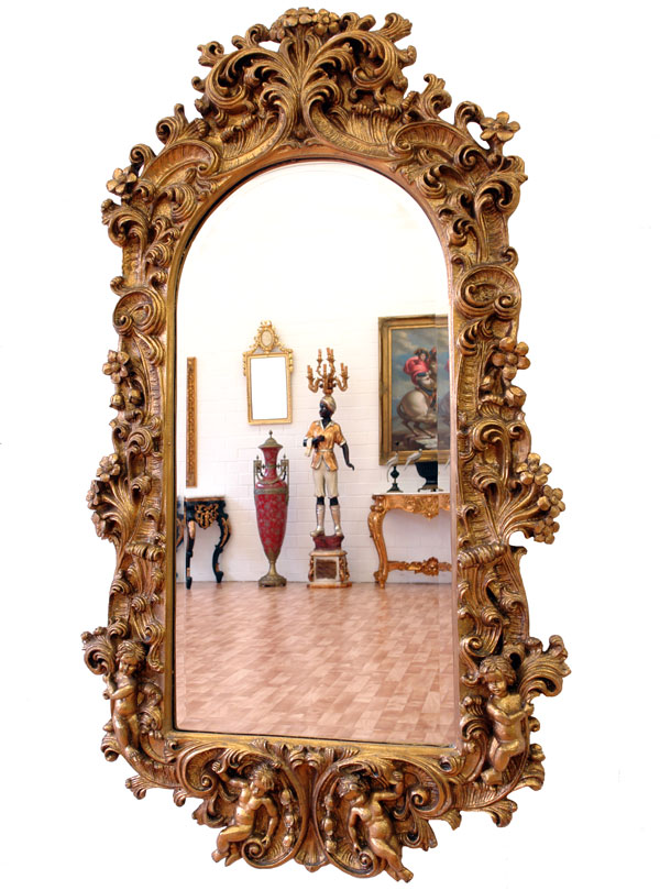 grand miroir mural de cheminee style louis xv neoclassique baroque cadre dore ebay. Black Bedroom Furniture Sets. Home Design Ideas
