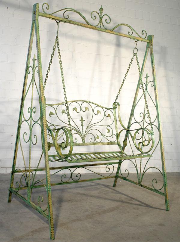 balancelle en fer forge vert banc a bascule meuble de. Black Bedroom Furniture Sets. Home Design Ideas